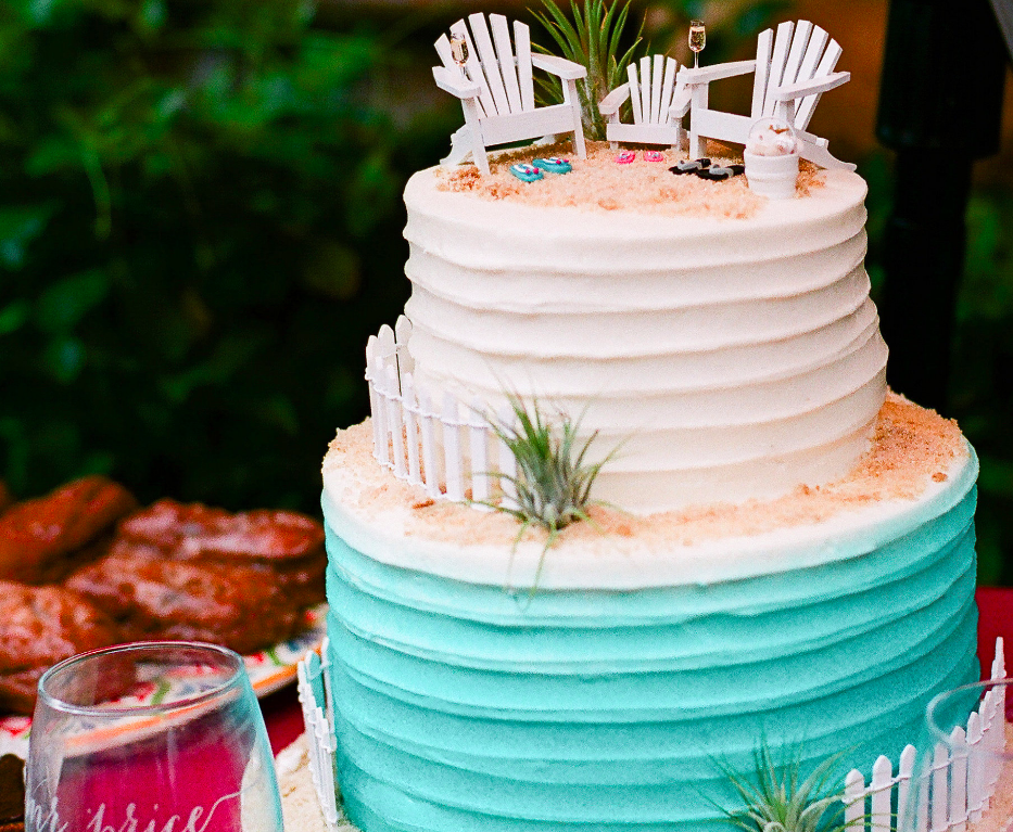 a19b12815 SENSATIONAL  Blended FAMILY or Stepfamily Beach Theme Wedding Cake Topper