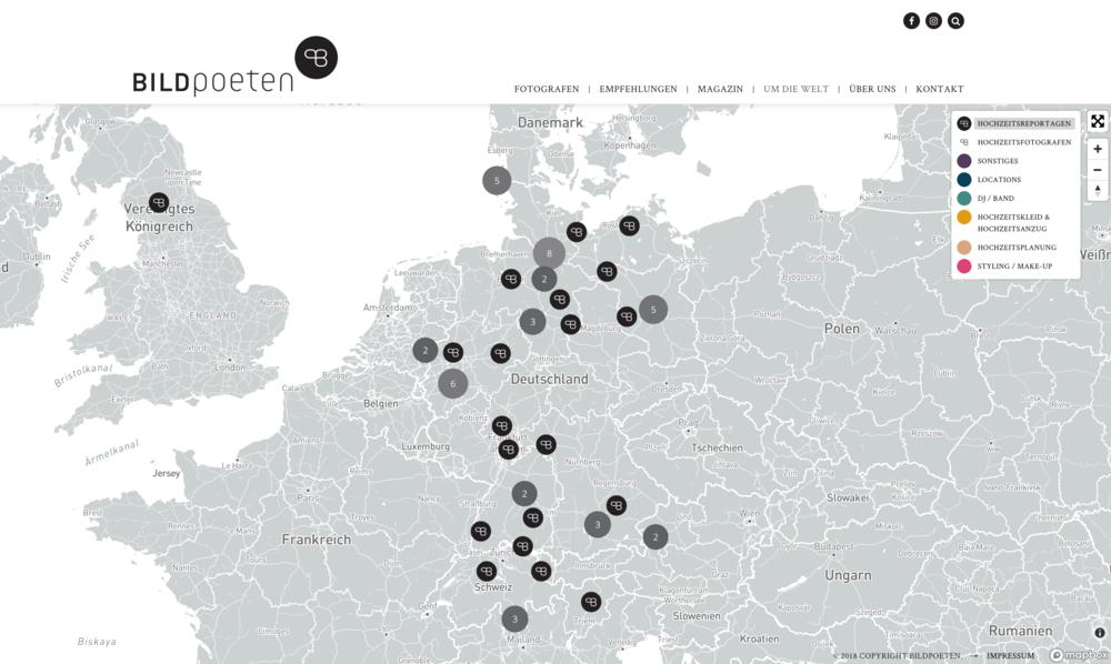 Mit den Bildpoeten um die Welt. Die neue interaktive Karte mit allen Infos auf einen Blick.