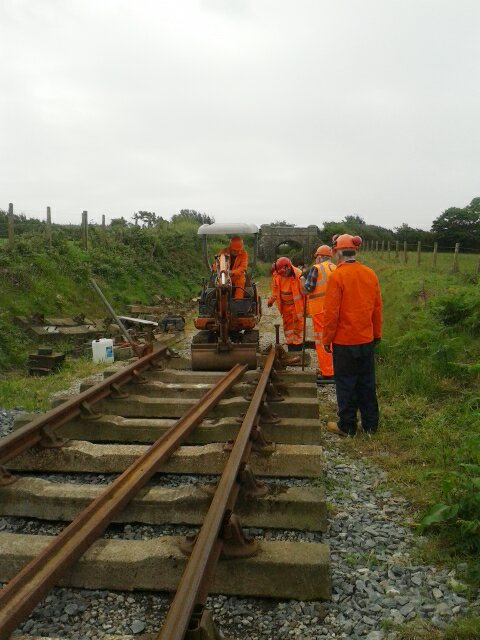 21st June - work progresses on the track extension to Truthall.  Photo by Terry Wilkins