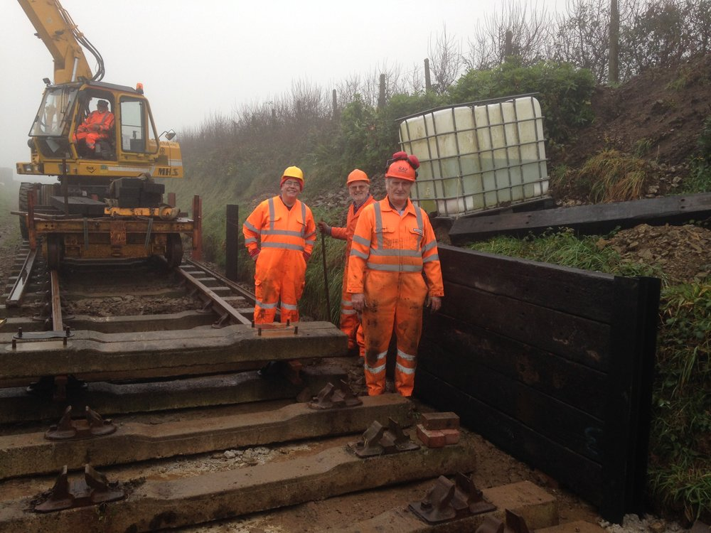 2016-12-08 06 Sleepers being installed to make the platform.JPG