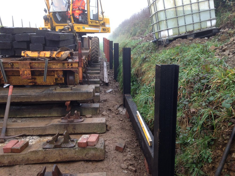 2016-12-08 03 Sleepers being installed to make the platform.JPG