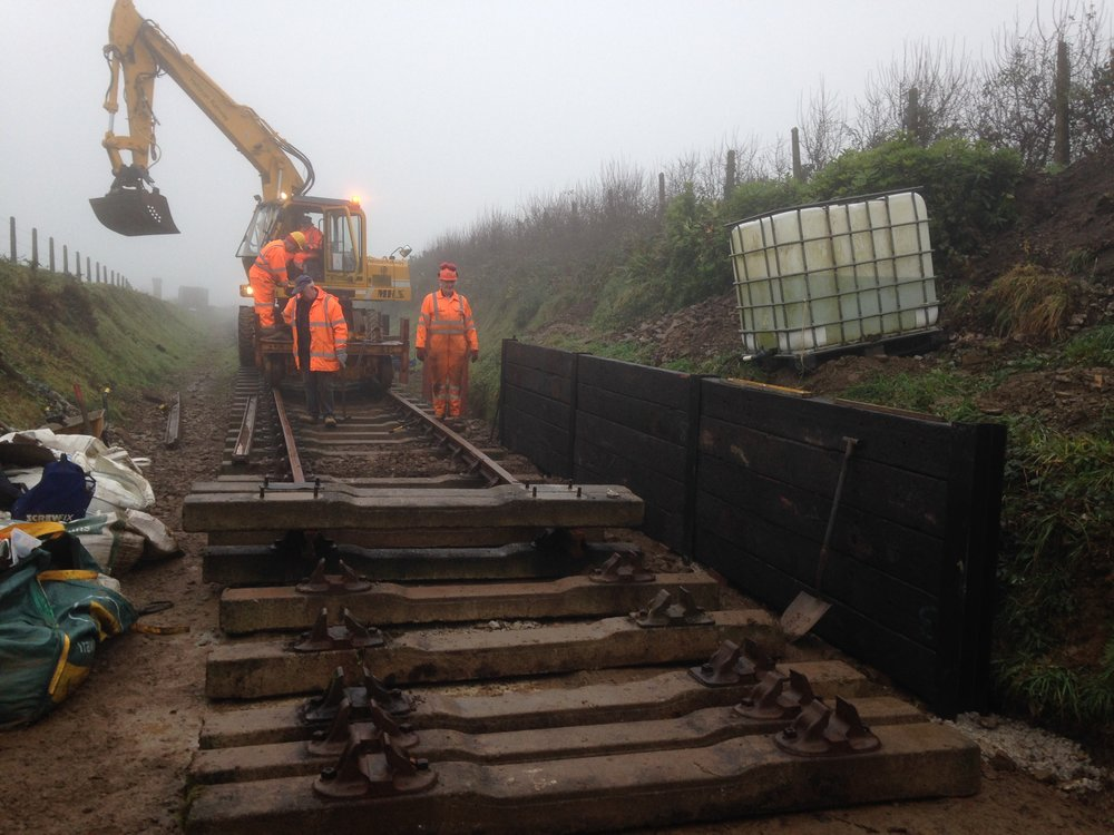 2016-12-08 13 Sleepers being installed to make the platform.JPG
