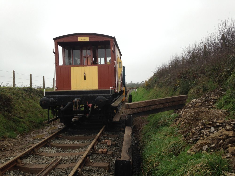 First train arriving at Truthall Halt for 60 years - Tuesday 10th January 2017