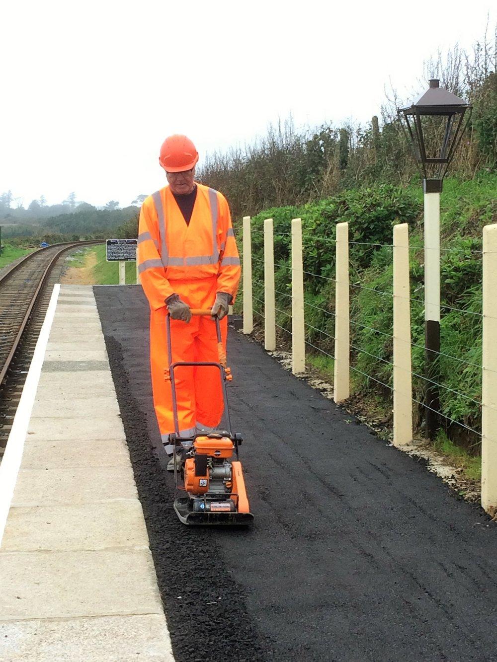 Platform surface added at Truthall Halt 101017 (1).JPG