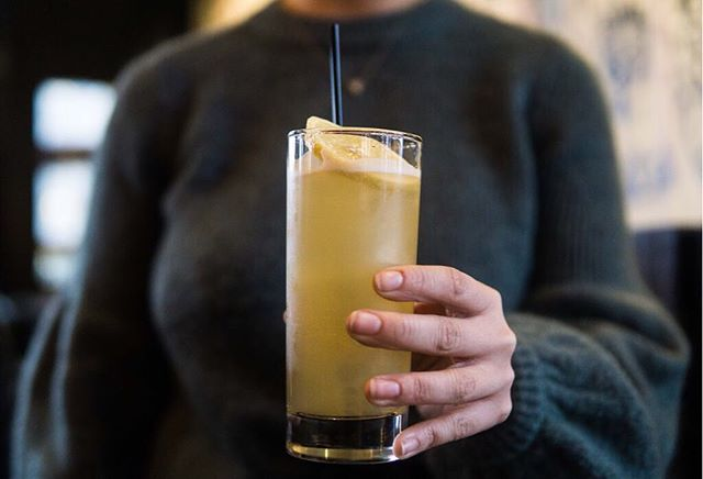 Spend Sunday night with a Motor City Cobra 🐍 1776 Rye, apple spiced syrup, lemon, cider #republictavern