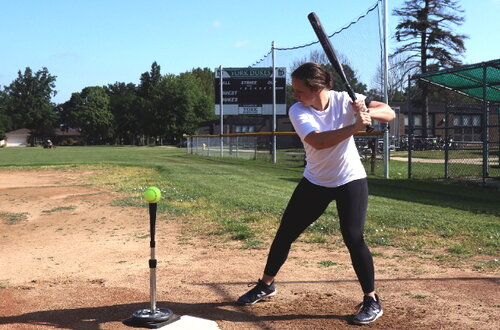 Megan Wiggins Demonstrates a Classic Softball Stance