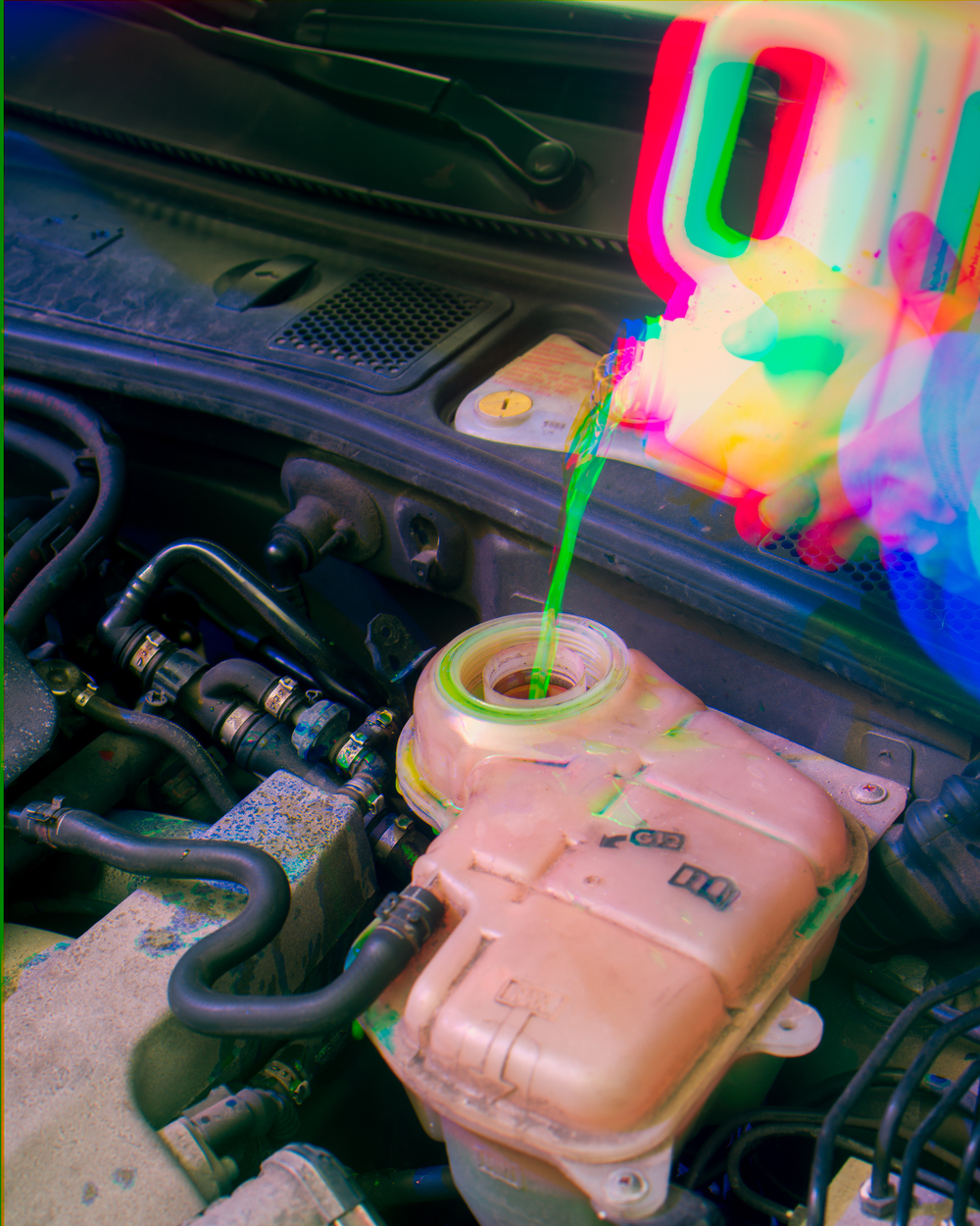 The Color of Coolant, Preventative Maintenance , 2015 Archival pigment print 30 x 24 in (76.2 x 60.96 cm)