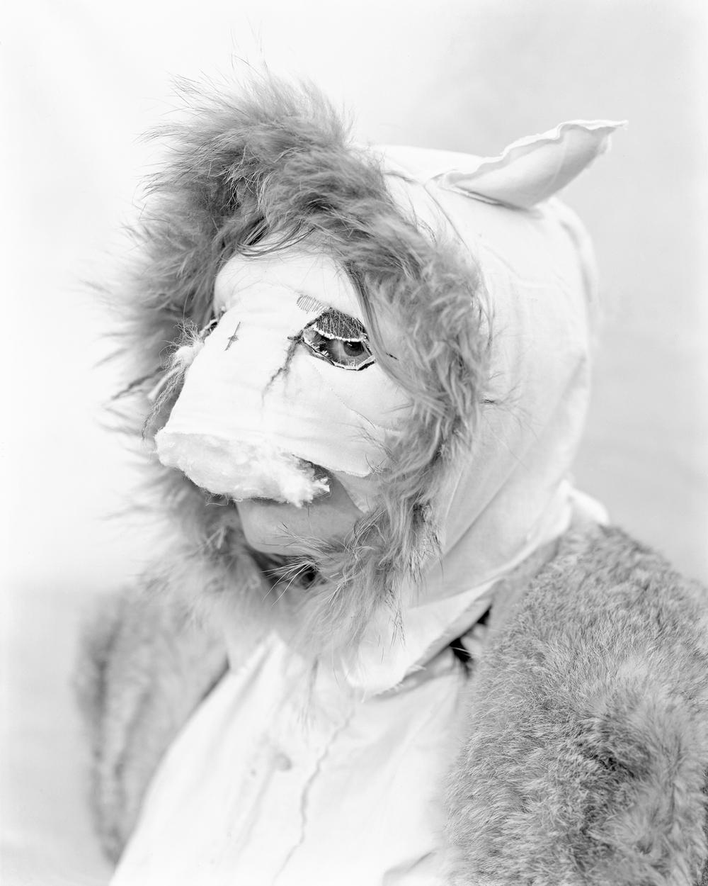 Winter Mask (Katy Foley) , 2010 gelatin silver print 24 x 20 in (61 x 50.8 cm)