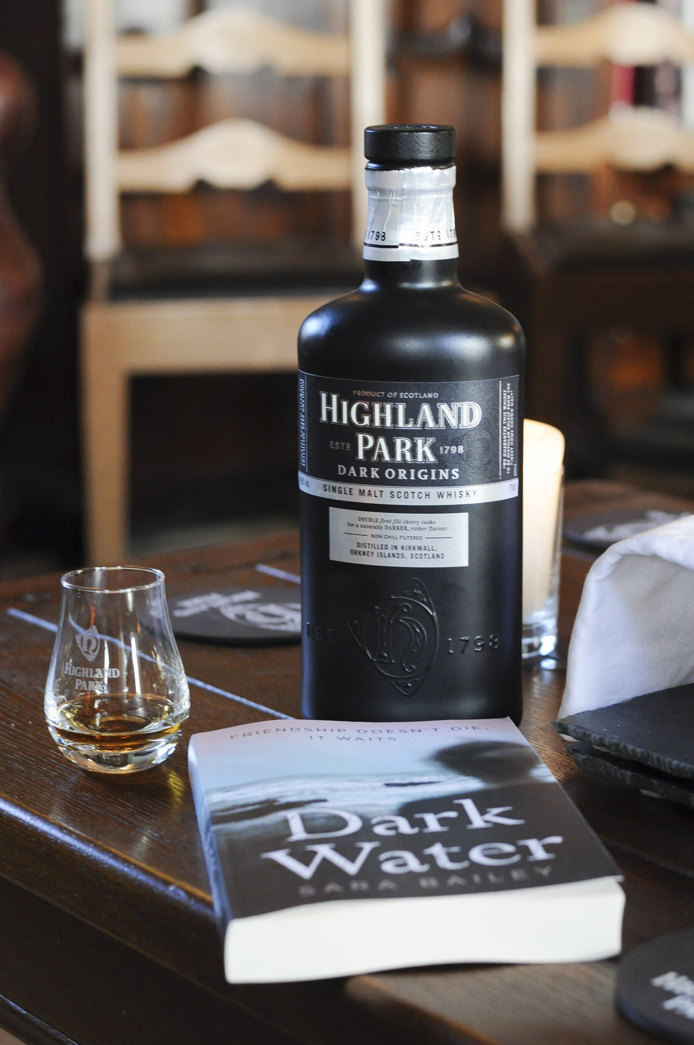 Dark Water with Dark Origins whisky