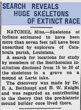 Giant remains Sarasota Herald-Tribune June 28 1933.jpg