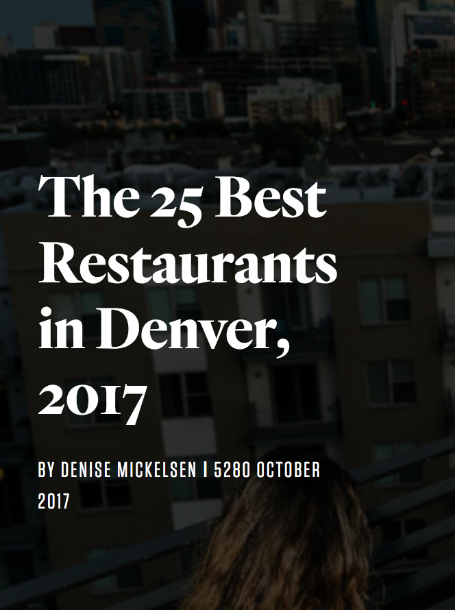 Denver's 25 best restaurants (5280)