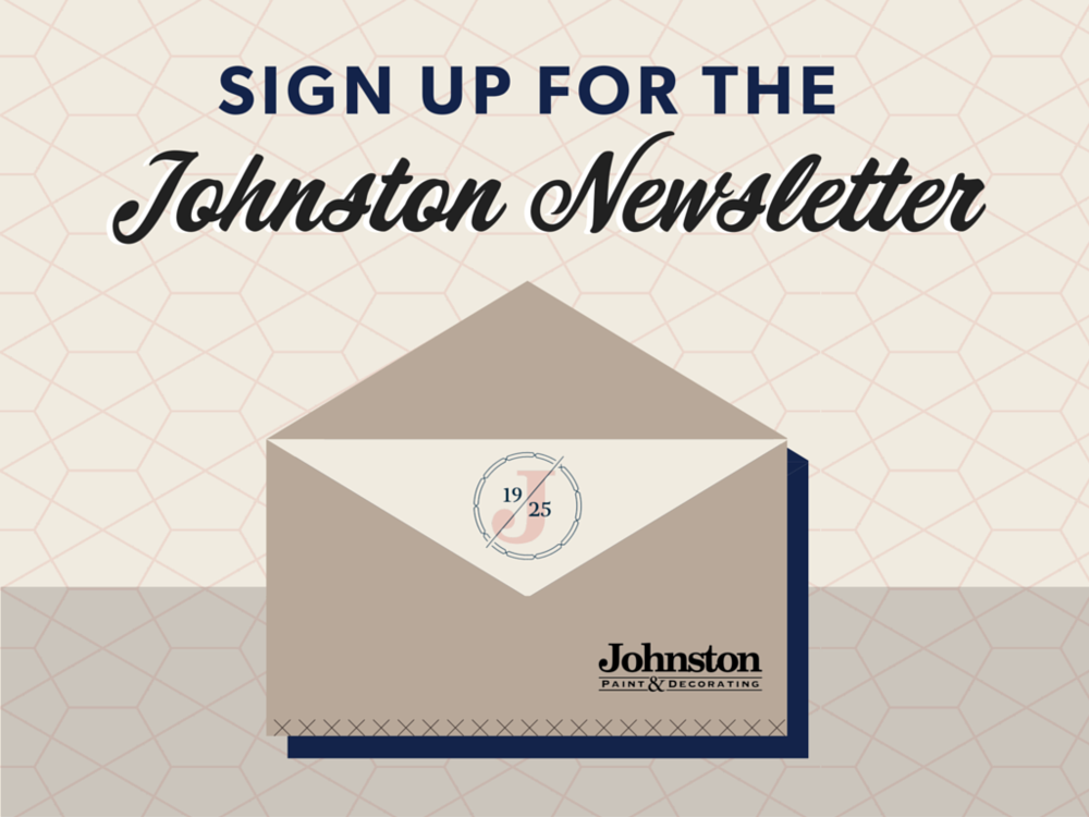 Johnston Paint & Decorating newsletter signup | JPD