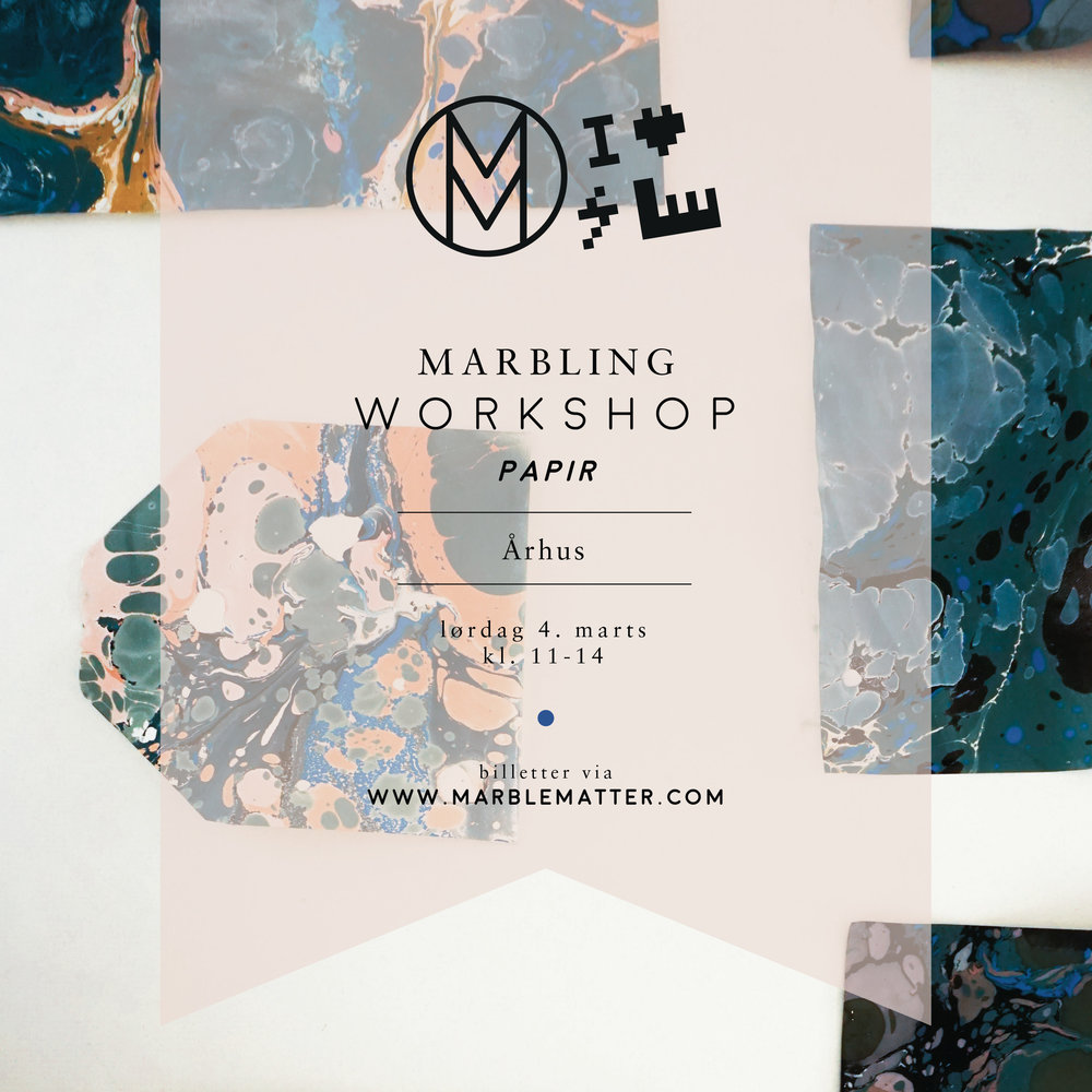 ÅRHUS   Saturday 4th of March 2017  Marbling workshop - paper    <<<<<     SOLD OUT     >>>>>