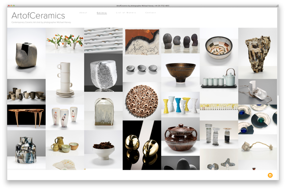 Splash Page for Michael Harvey's  Art of Ceramics