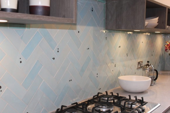 One beautiful kitchen complete with stunning handmade tiles.