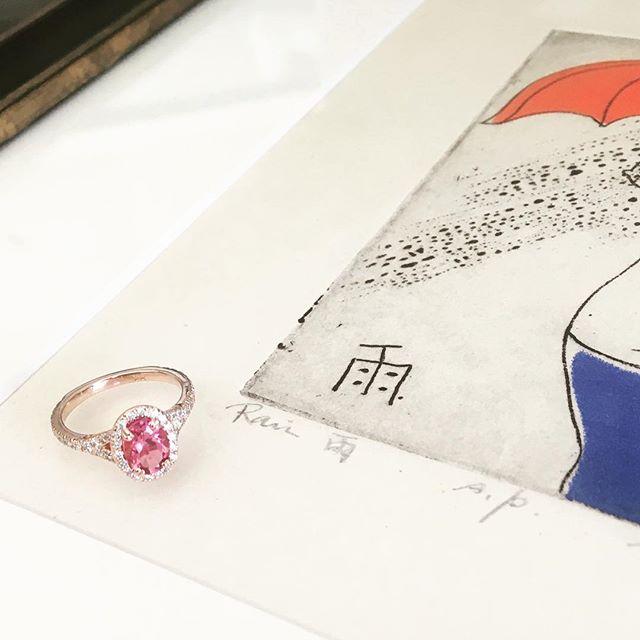 #pinksapphire #rosegold #diamondconsultant