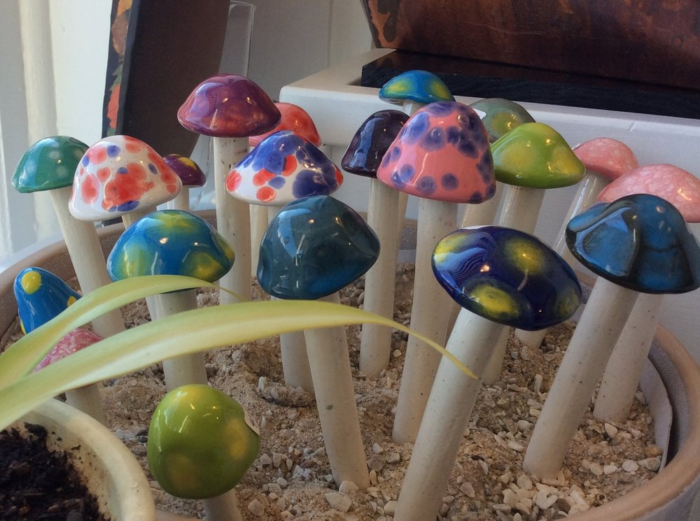 Ceramic Mushrooms by JJPotts
