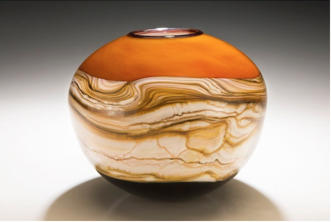 Tangerine Bowl by Danielle Blade