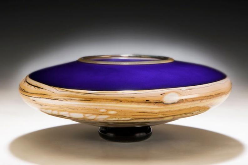 Cobalt Bowl by Danielle Blade