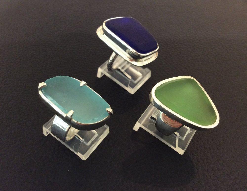 Kavi Cohen Glass Rings at Rachel K DeLong Gallery