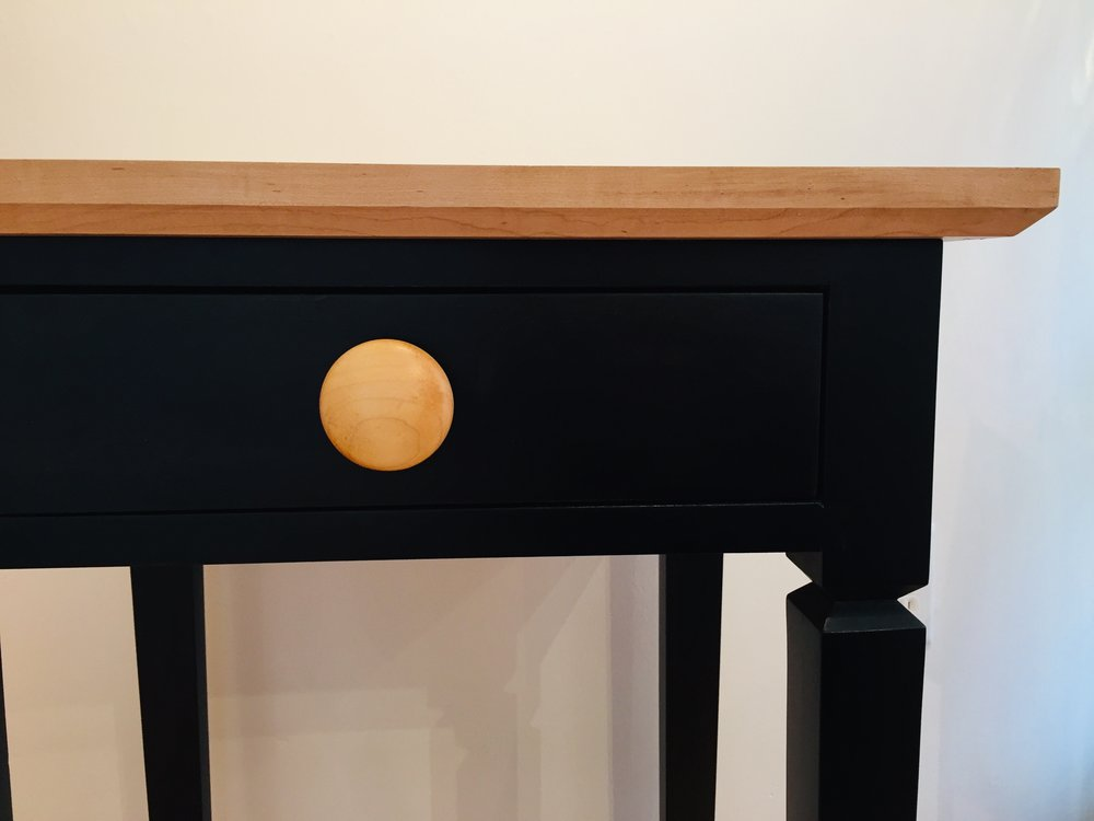 Ebonized Poplar End Table at Rachel K DeLong Gallery