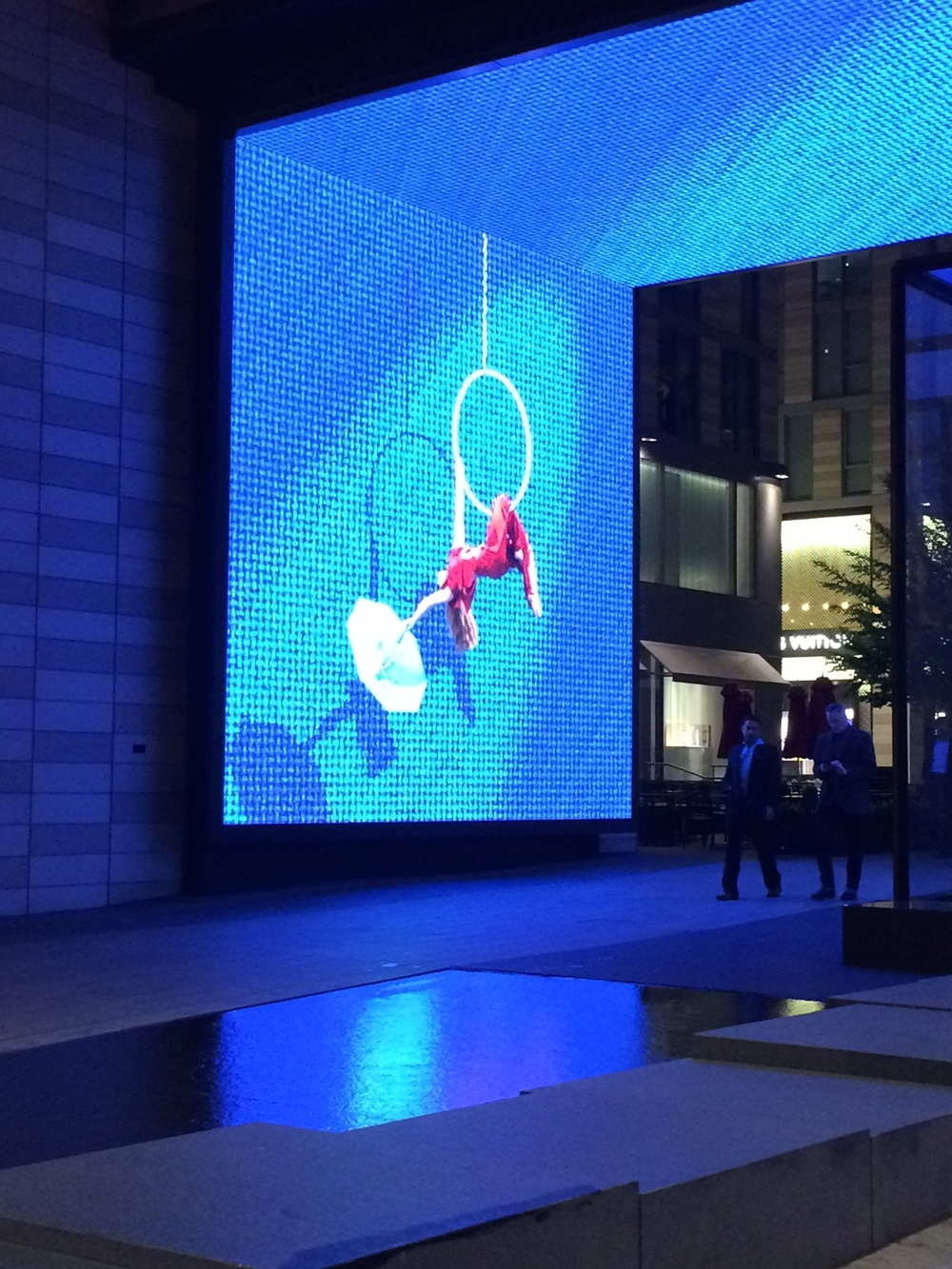 Three dimensional Vignettes appearing on the LED Screens.