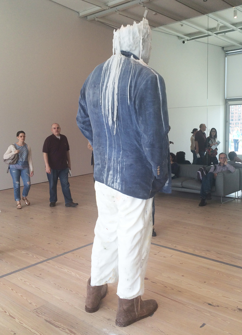 """Urs Fischer's """" Standing Julian melts slowly every day. @The Whitney Museum of American Art."""