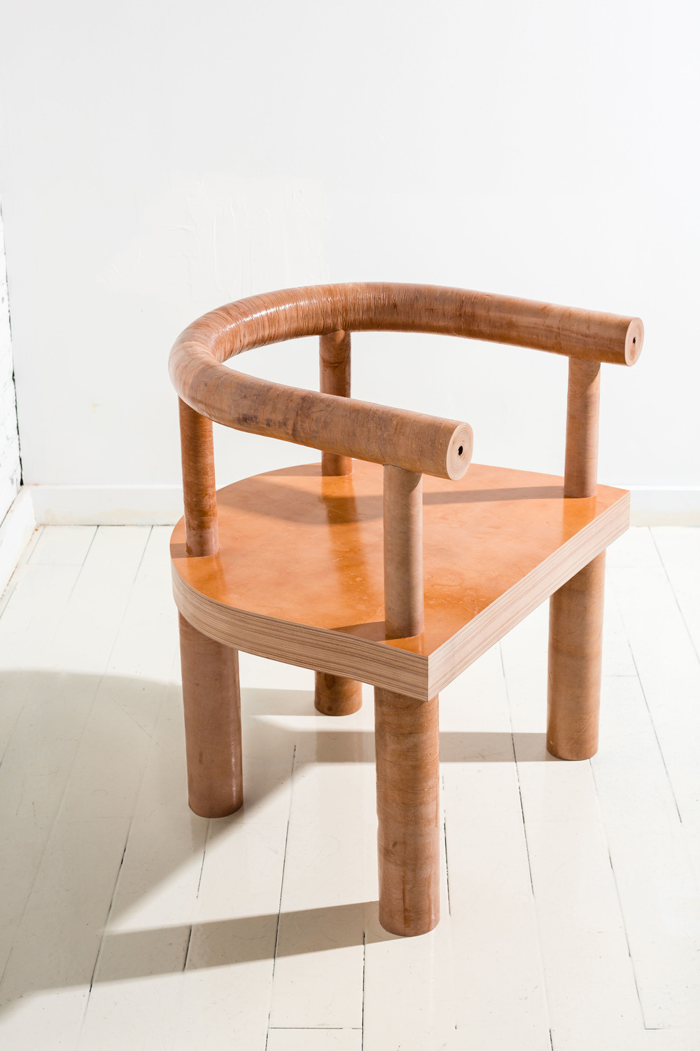 The  Stacked Leather Chair , from 'Qualities of Material' by Fort Standard