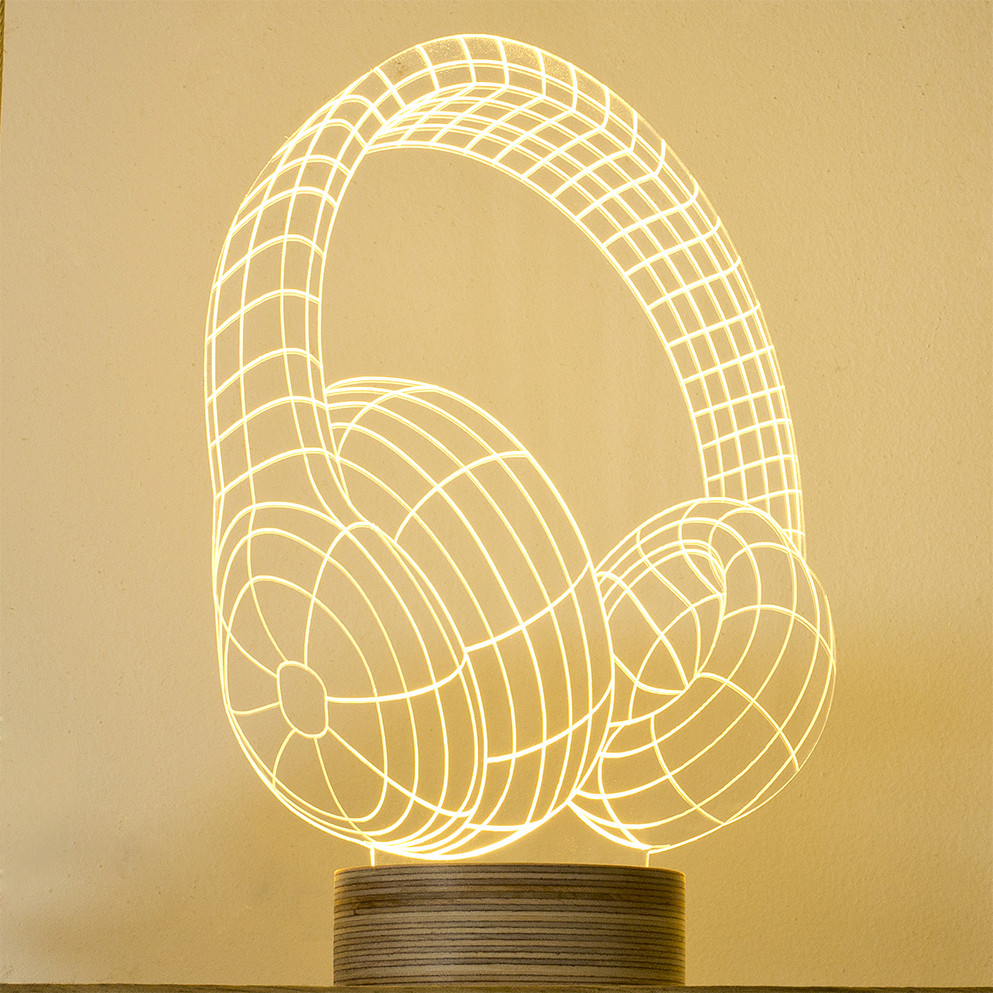 The Bulbing Lamp #Headphones, from Bulbing by Studio Cheha