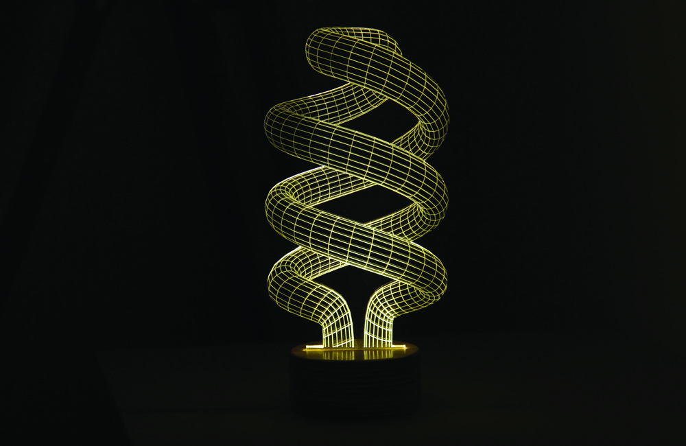 The Bulbing Lamp #Spiral, from Bulbing by Studio Cheha