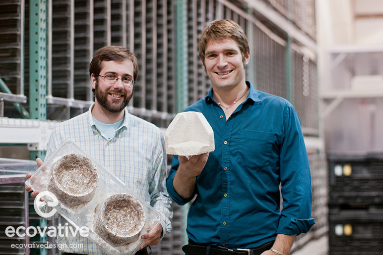 Co-Founders Eben Bayer and Gavin McIntyre with their products.