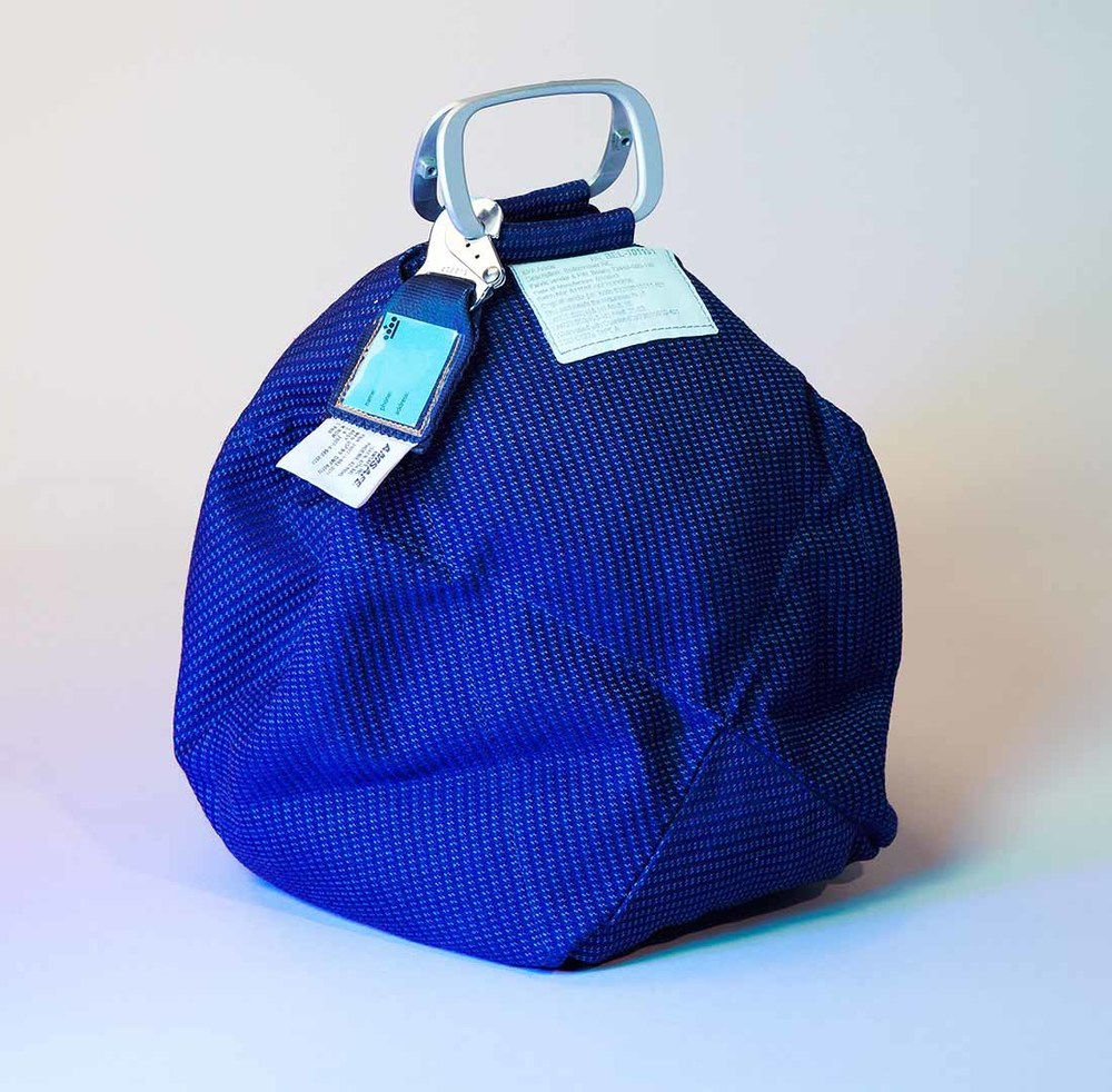 Sleeping Bag,  a travel head-pillow and safe storage for valuables, from Robin Pleun Maas