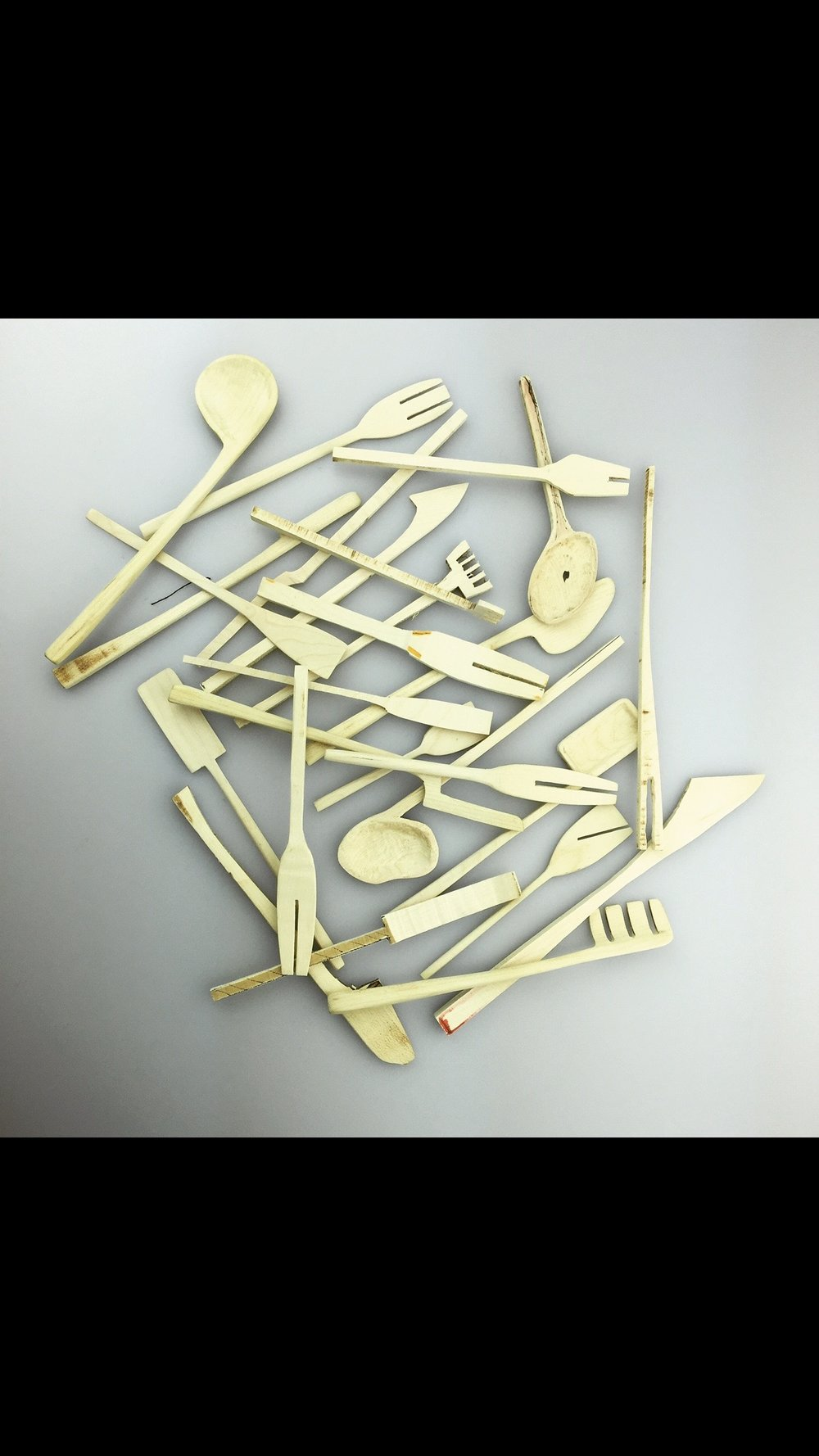 Exploration of Cutlery,     fed into   the development of the final   collection     Intuitive Cutlery