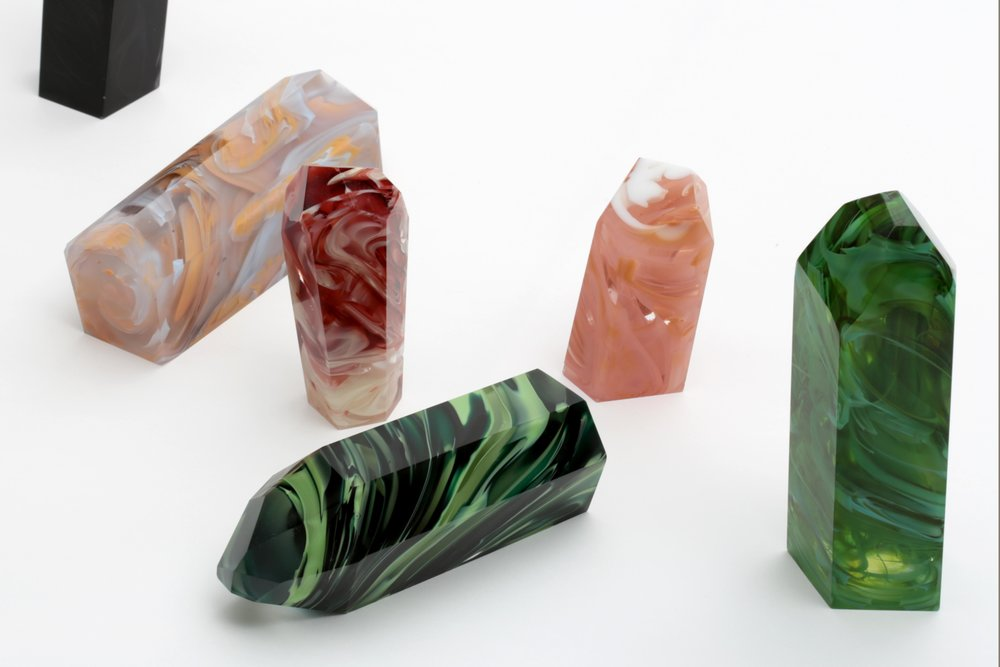 Marblization by Elinor Portnoy–exploring glass and craft as a means to recreate precious natural elements.