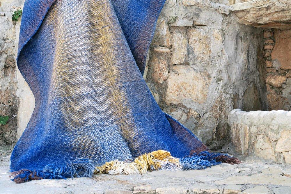 Blue rug from  Shade Rugs by Begüm Cana Özgür, Kirkit Istanbul
