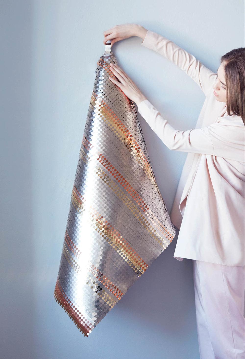 'Metal fabric' created by Malgorzata Mozolewska