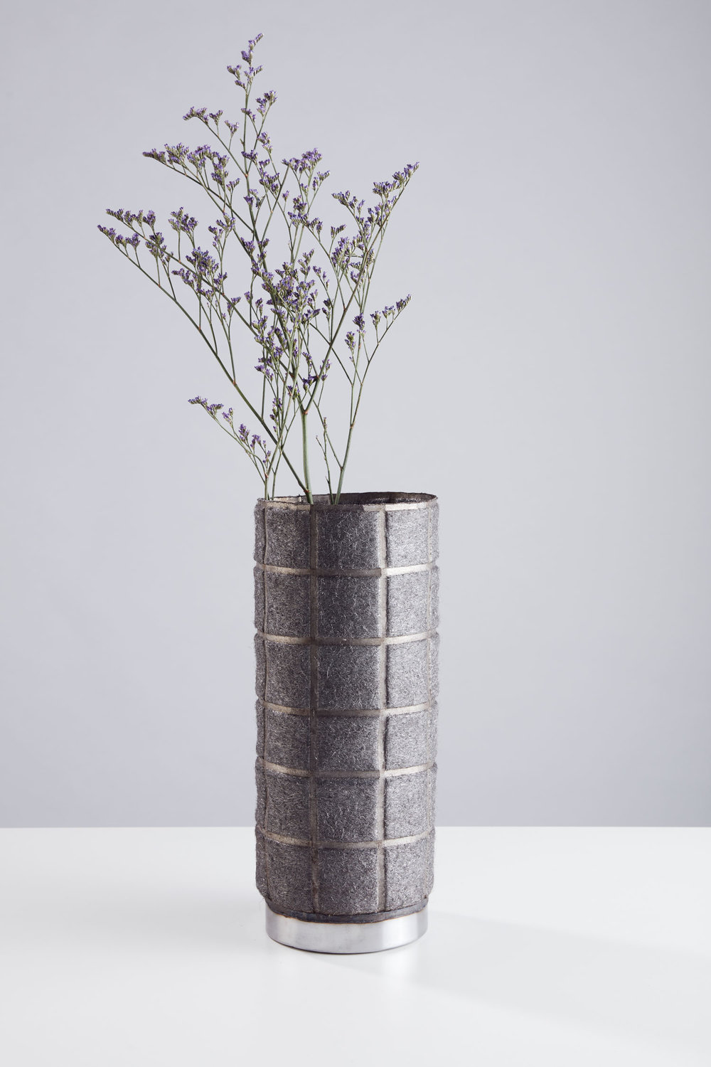A vase from The Soft Side of Steel series  by Studio Ilio