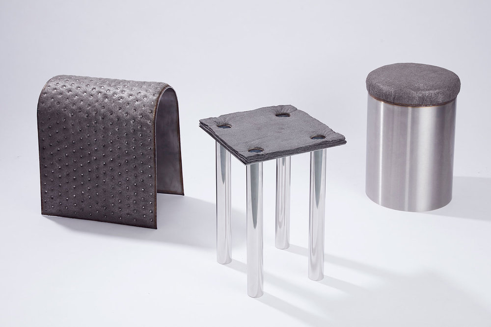 Stools from  The Soft Side of Steel  by Studio Ilio