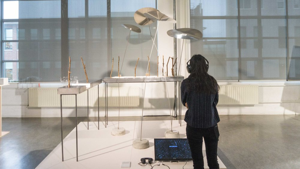 Jessica's work for  Sound Zen Gardens  on display at Dutch Design Week 2016