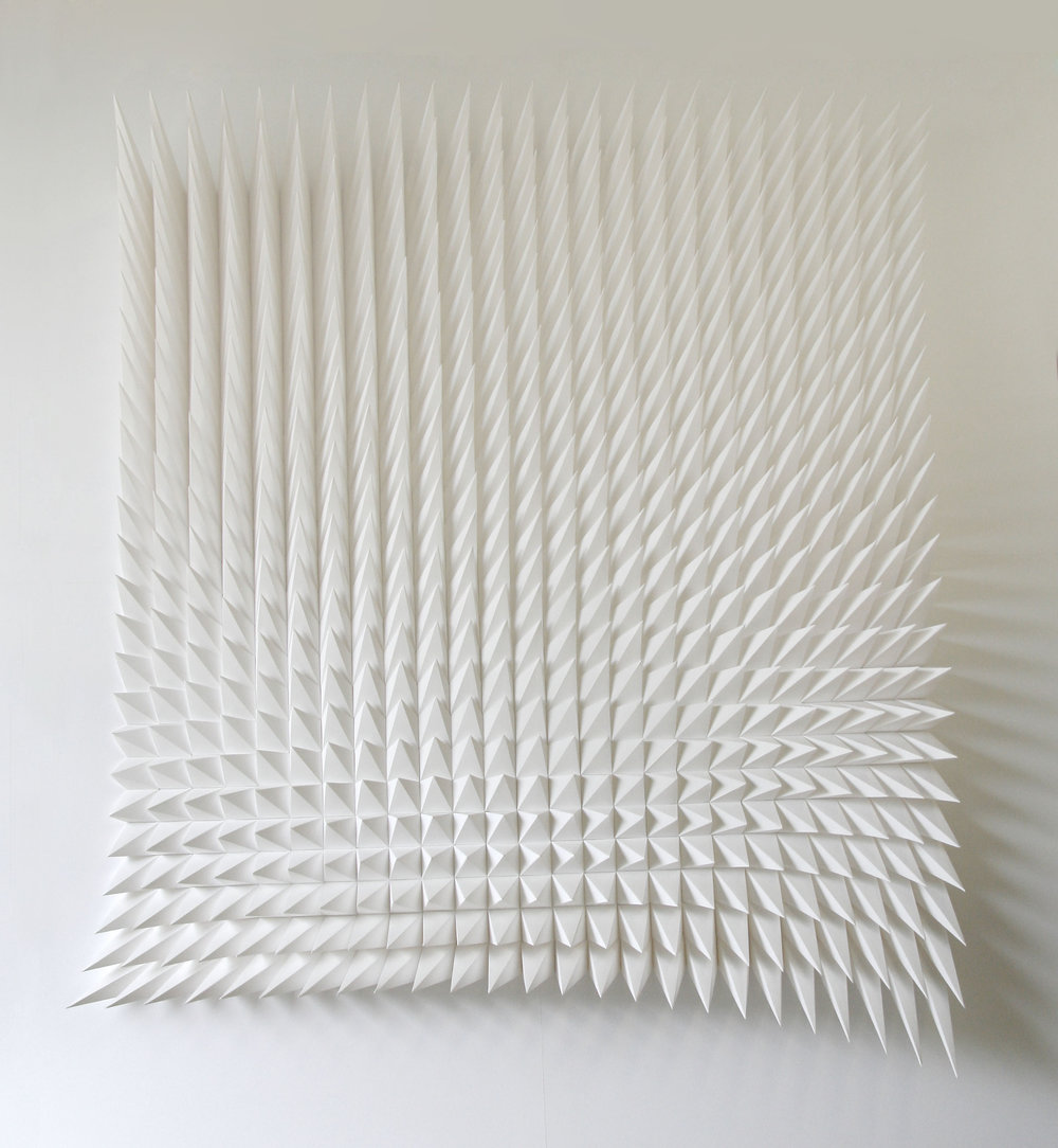 Recursive,  Paper, 36 x 44 x 6 inches, 2012. By Matthew Shlian