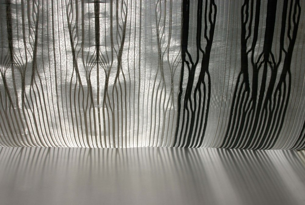 Sunlight streams through a work from the X-Ray Vault Series IIby Rita Parniczky