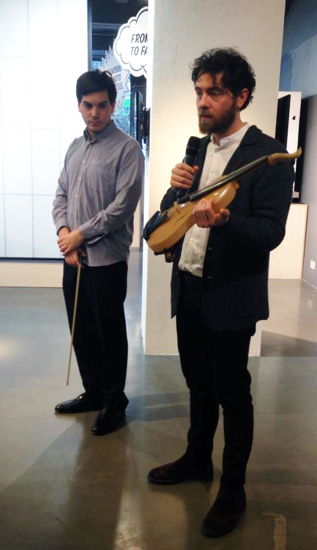 "Luca Alessandrini discusses his work at at ""Golden orb-weaver spider silk violin recital"""