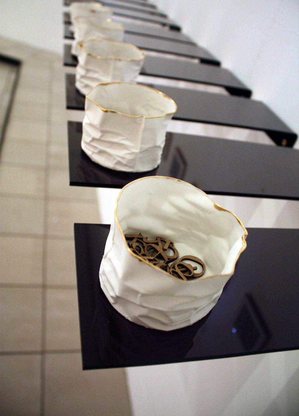 Crumpled vessels, from 'Its all Greek to me' by Manos Kalamenios