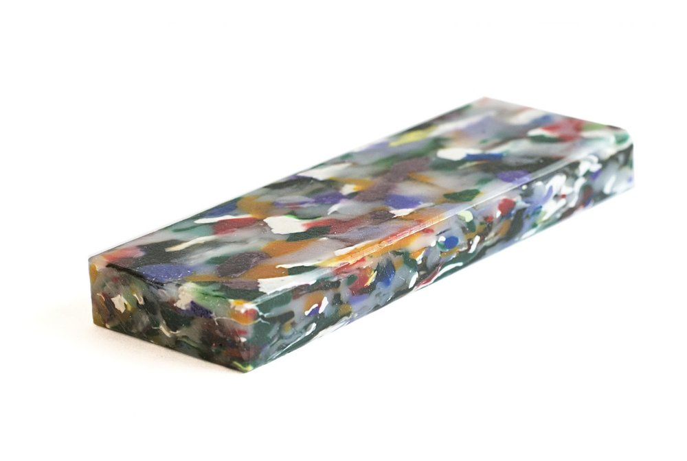 'Bottle' By Smile Plastics comprises multicolored bottle sheets made from recycled plastic bottles. Image source: Smile-Plastics.com