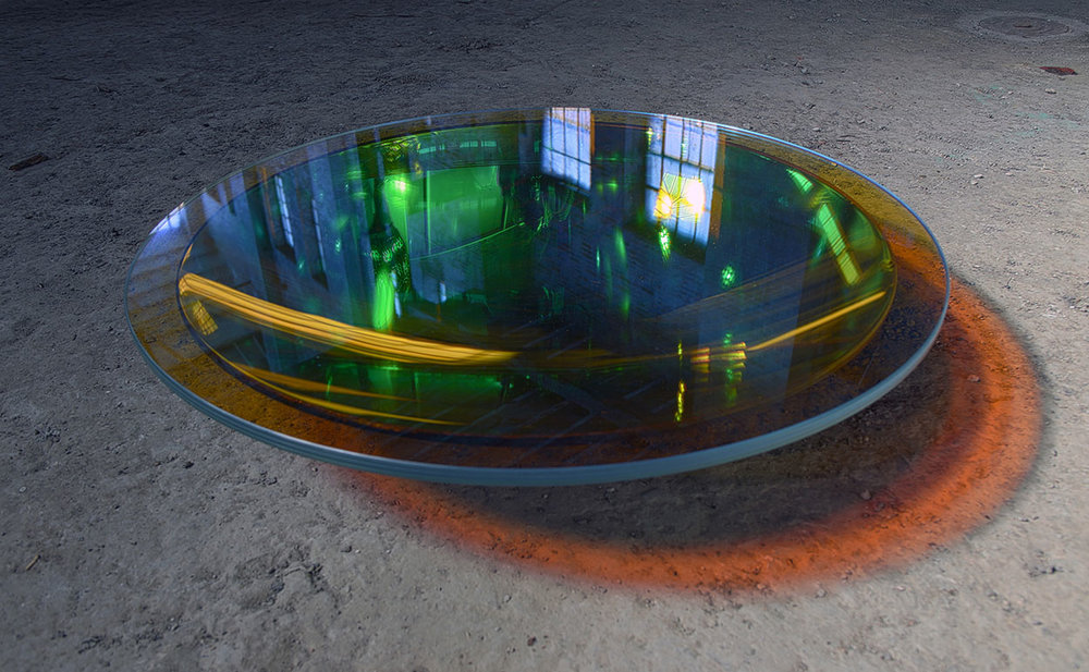 Glass and Light become the materials for Jordan Söderberg Mills' work. Seen here is his  Parabola  collection.