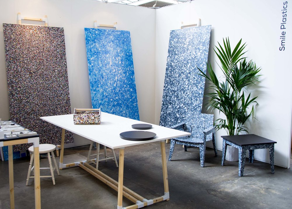 Smile Plastics  launched its collection of panels at the London Design Festival of 2015, at Tent London