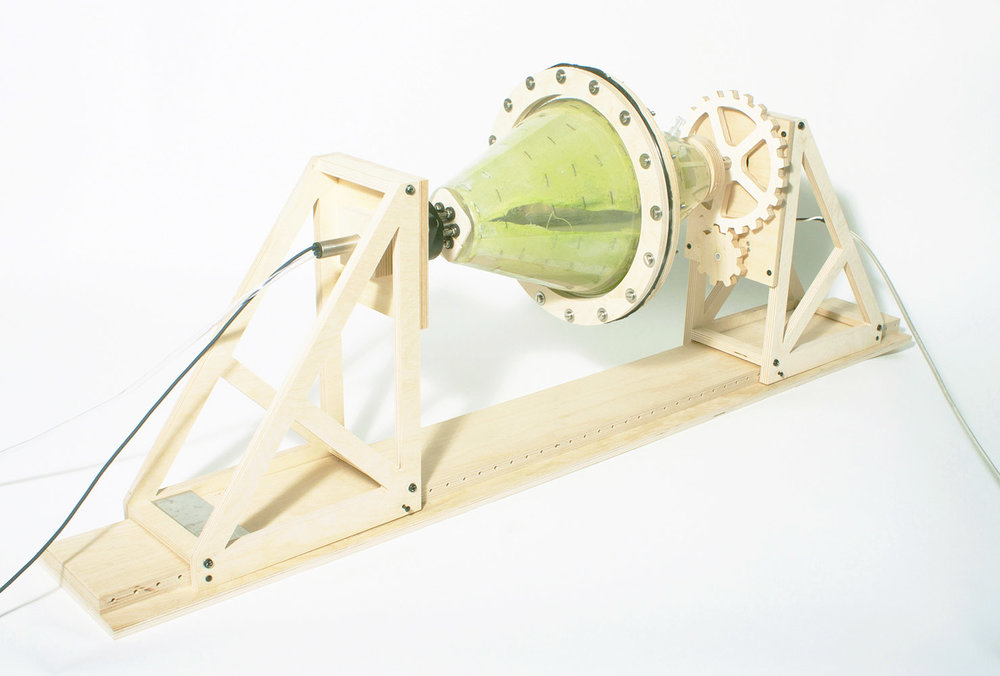 Rotomoulding Algae machine created by Karlijn Sibbel for   Industry by Nature