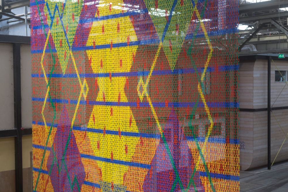 C-chain Carpet –a (semi)permanent public space work by We Make Carpets–commissioned by  Art City NDSM  Amsterdam.