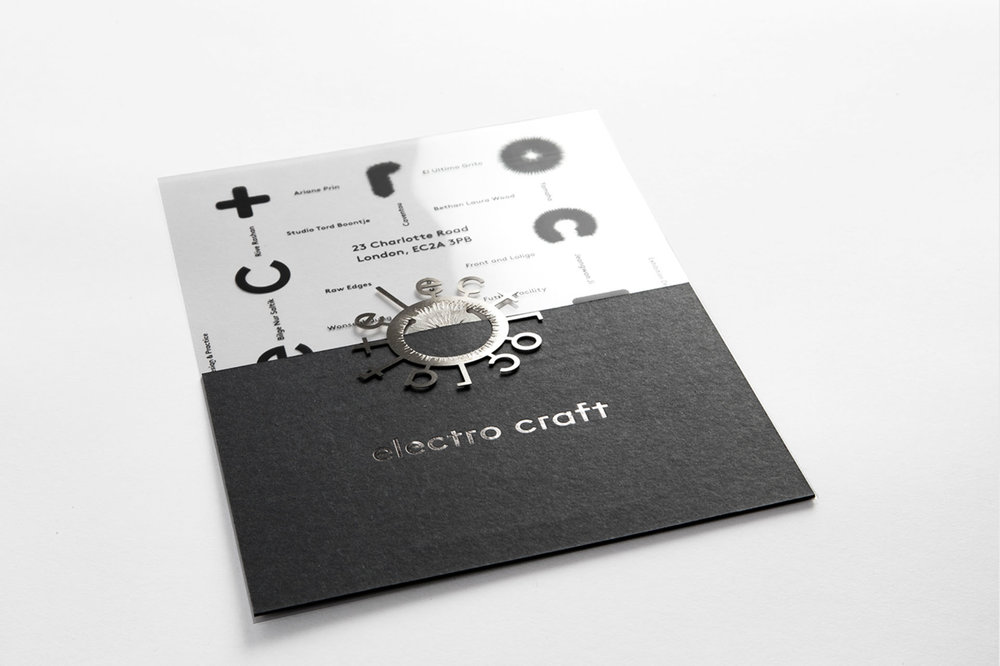Tactile Brand and Invite design for the Electro Craft Show, by  Design&Practice