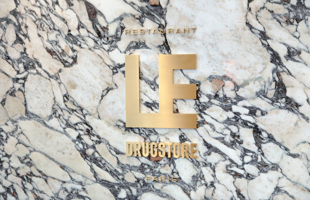 Signage and Brand Identity for Le Drugstore, Paris, by  Design&Practice